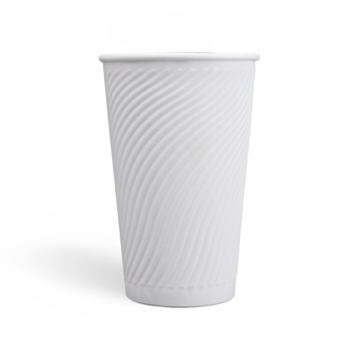 16oz Compostable PLA coating Embossed Paper Cups