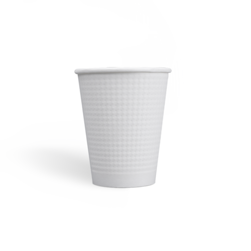 9oz Compostable PLA coating Dot Embossed Paper Cups