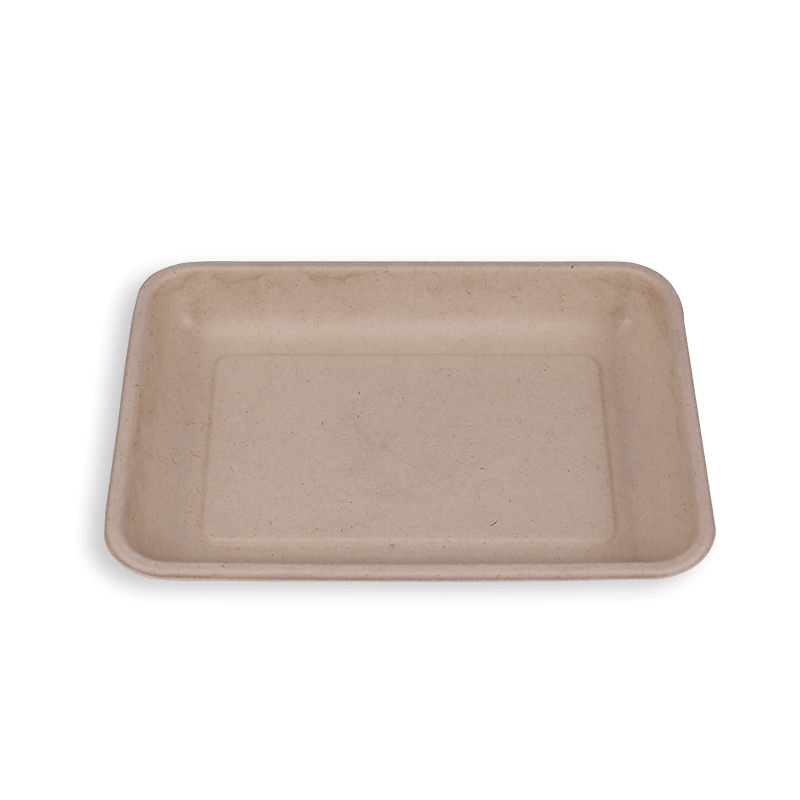 8.8*6.5'' Biodegradable Sugarcane Bagasse Long Trays