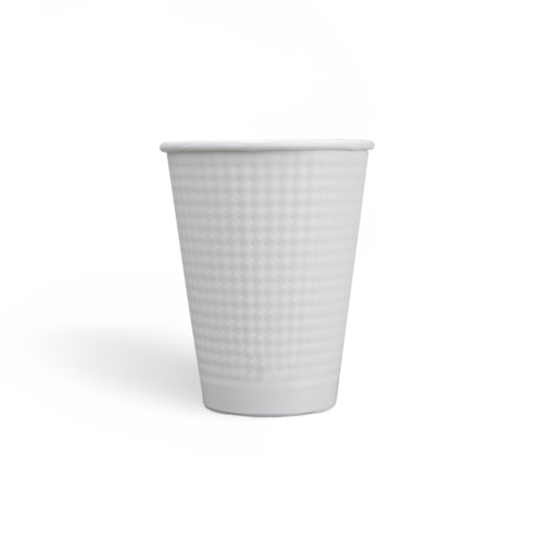 12oz Compostable PLA coating Dot Embossed Paper Cups