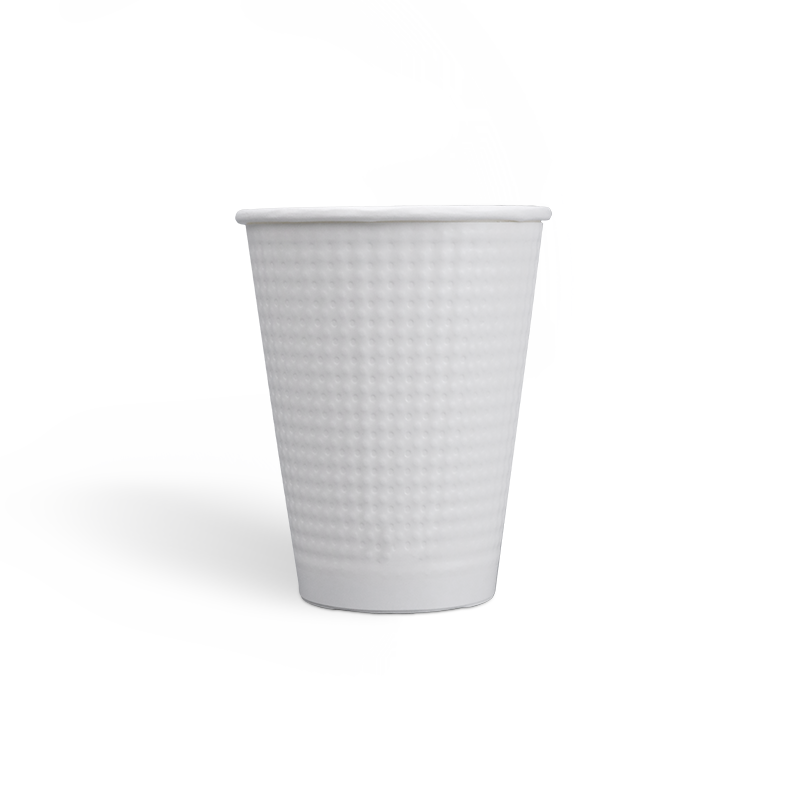12oz Zero-Plastic Water Based Coating Dot Embossed Paper Cups